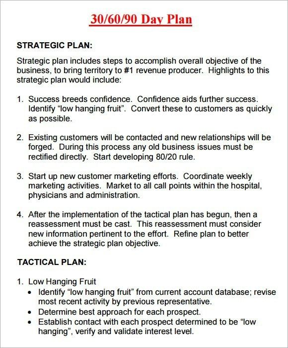 30 60 90 Day Sales Plan Template Free Sample ...