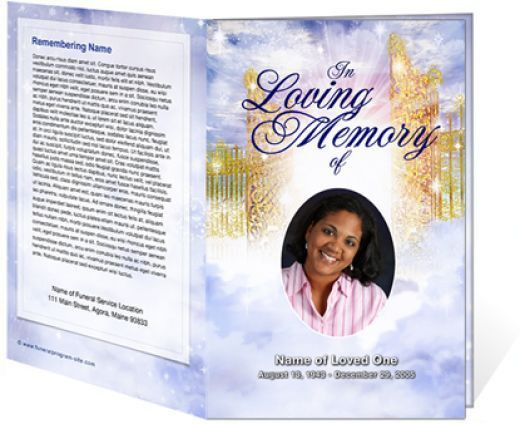 Thomas Kinkade Funeral Programs Preprinted Paper for Memorial ...