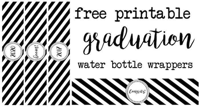 Graduation Water Bottle Wrappers - Paper Trail Design