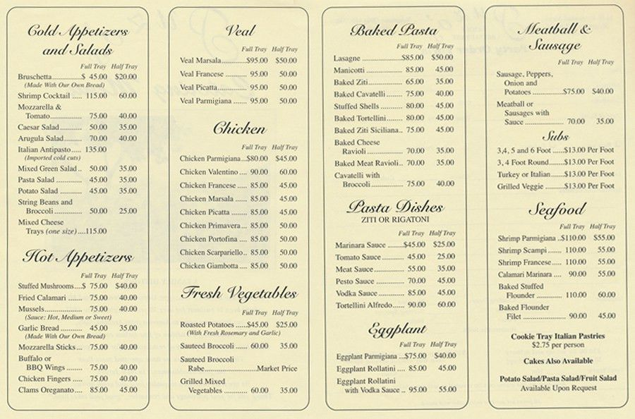 Sample Catering Menu Templates - Osclues.com