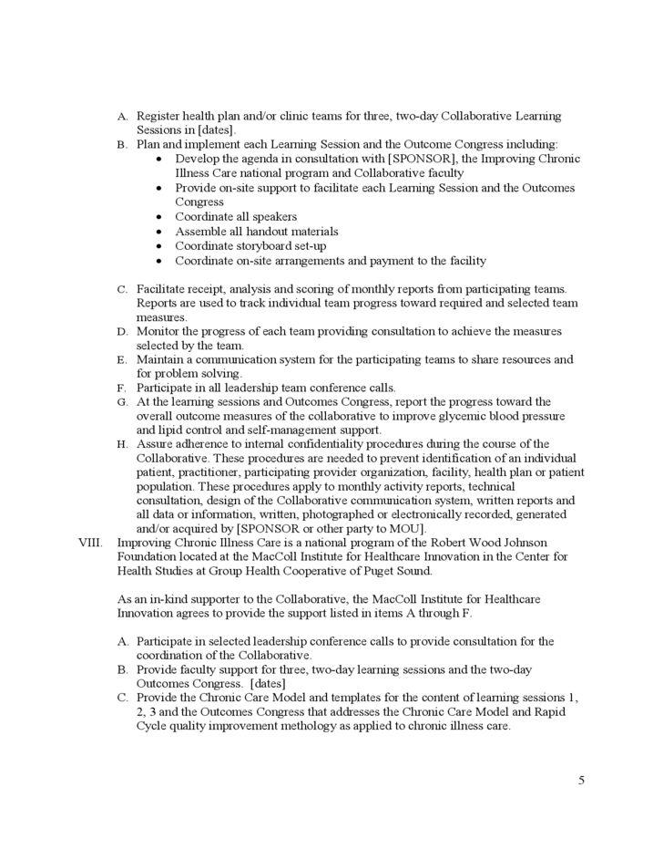 Basic Memorandum of Understanding Sample Free Download