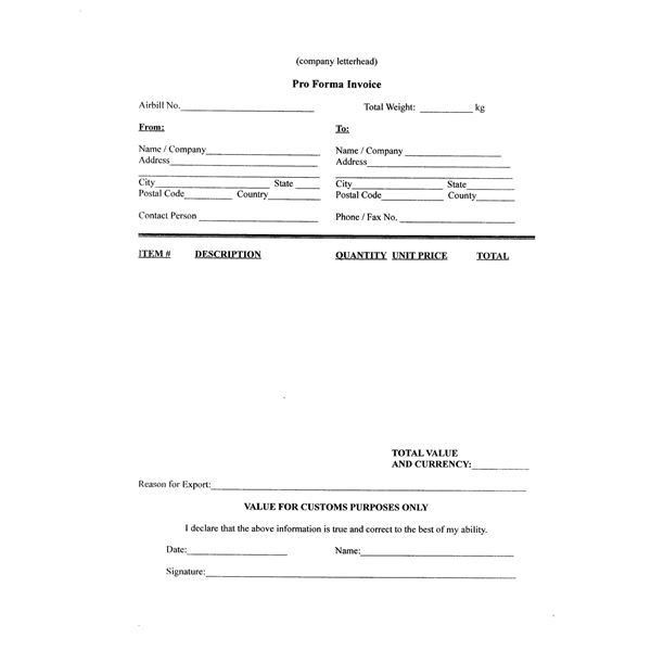 Free Example of a Pro Forma Invoice & How to Create One