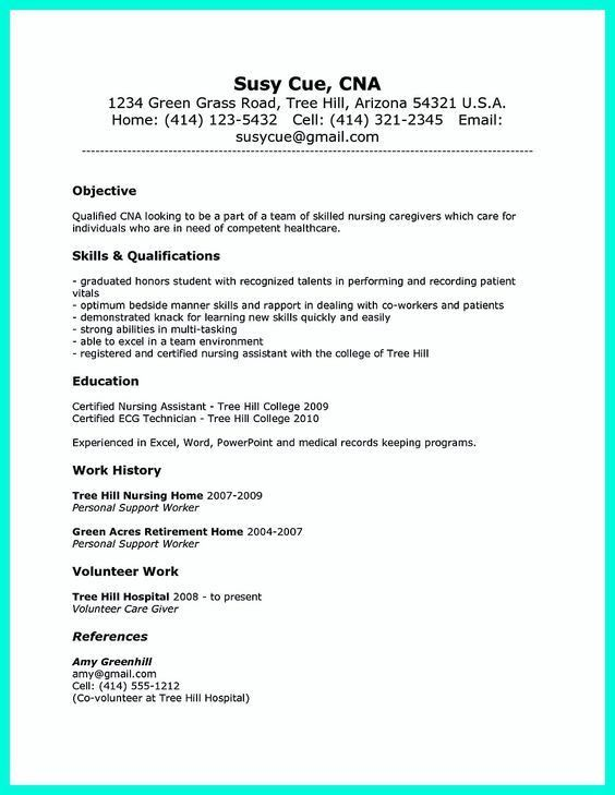 how to make a cna resume resume example 30 cna resumes no