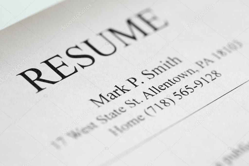 Resume title page. — Stock Photo © UltraONE #7422594