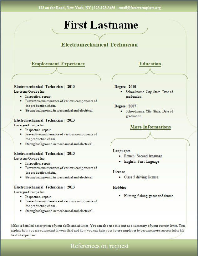Resume Template Download Mac. Simple Resume Template Vol5 Mac ...