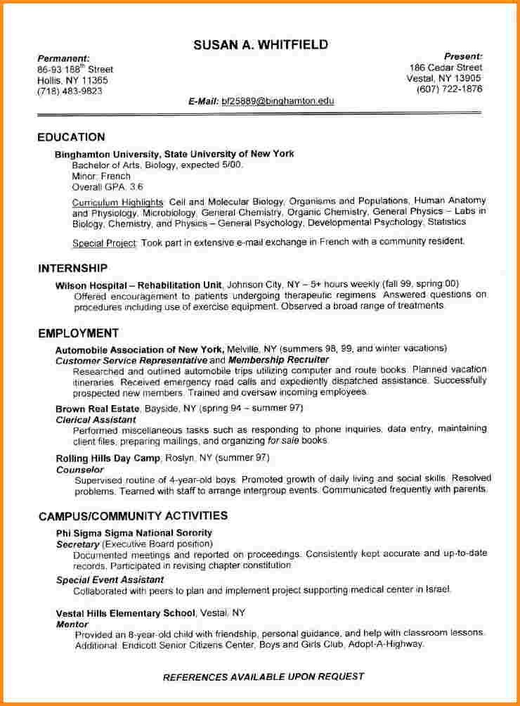 Examples Of Perfect Resumes. Examples Of The Perfect Resume A ...