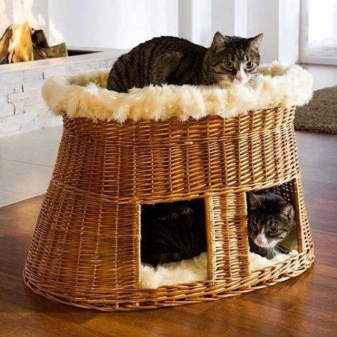 Плетеный домик для кошки своими руками мастер класс - Milk-kms.ru