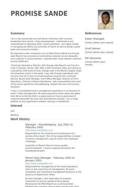 Housekeeping Resume Sample   Template Design