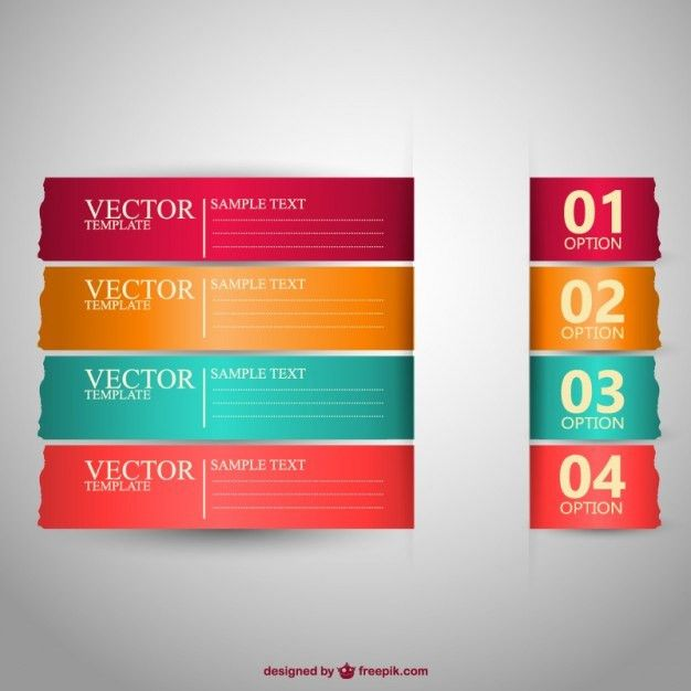 Banners templates in different colors Vector | Free Download