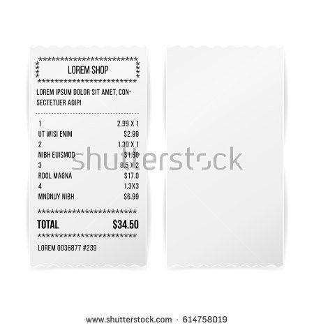 Blank Receipt Stock Images, Royalty-Free Images & Vectors ...