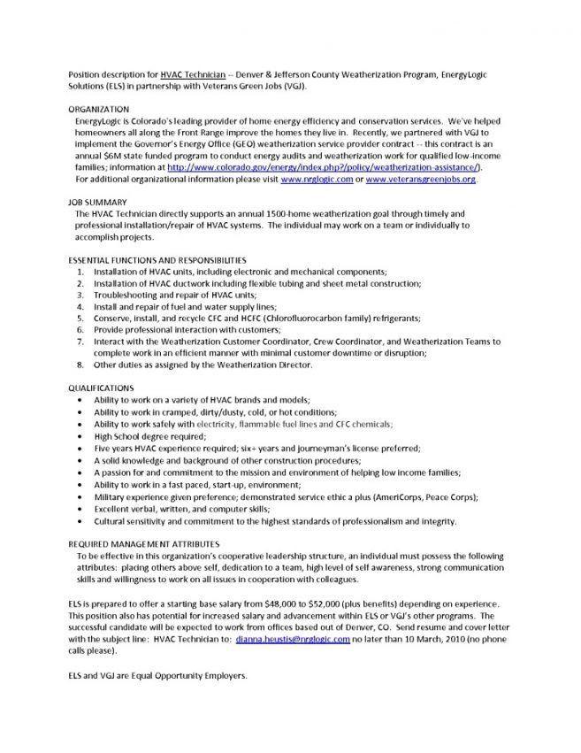 9 Cv For Hvac Technician Resume hvac technician resume skills ...