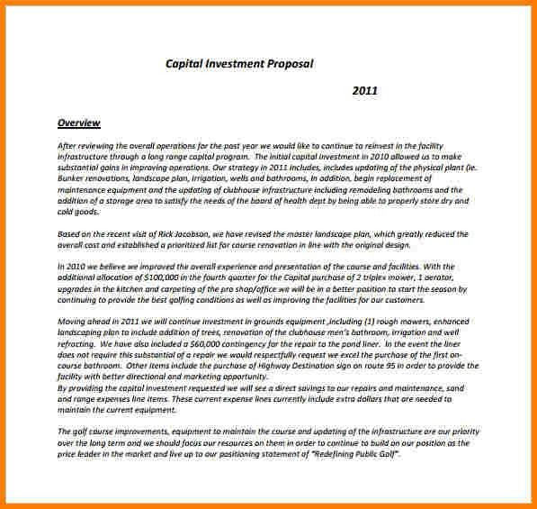 7+ investment proposal | Proposal Template 2017