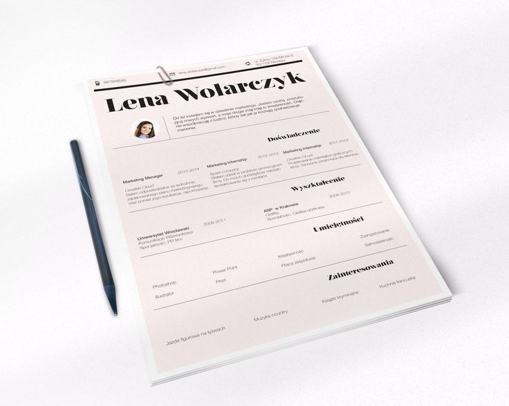 146 best Creative resume by CVdesign images on Pinterest | Cv ...