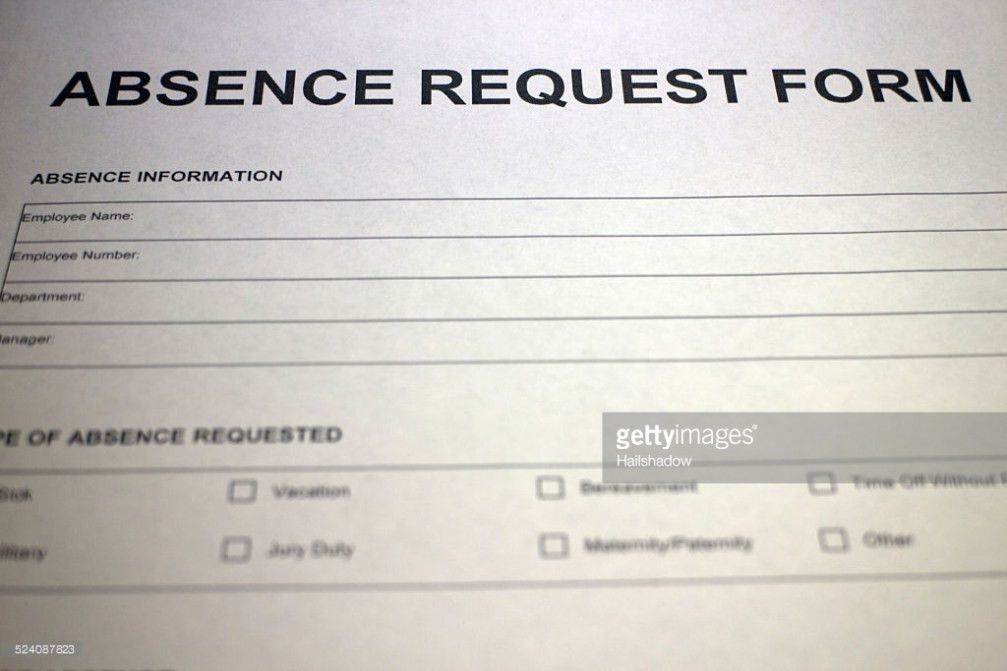 Leave Request Form Stock Photo | Thinkstock