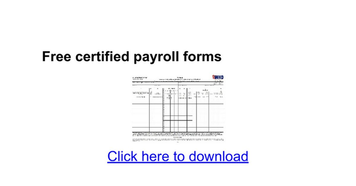 Free certified payroll forms - Google Docs