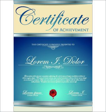 Modern certificate creative design vector set 08 - Vector Cover ...