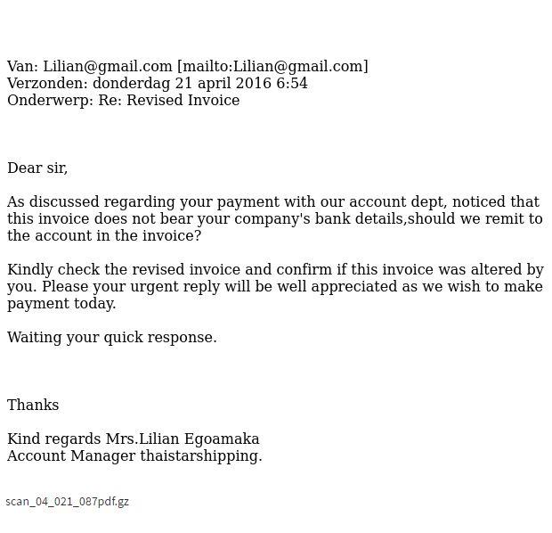 Lilian@gmail.com: Revised Invoice Fraudehelpdesk