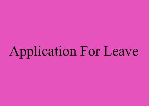 Write an application for leave an urgent piece of work at home