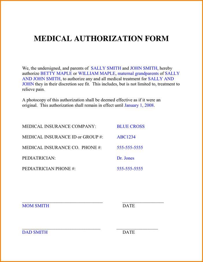 9+ authorization form | wedding spreadsheet