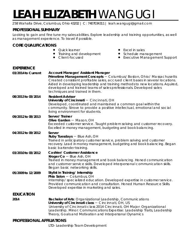 Copy of Resume livecareer