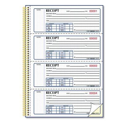 Rediform Money Receipt Book, Carbonless Duplicate, Twin Wire, 7 x ...