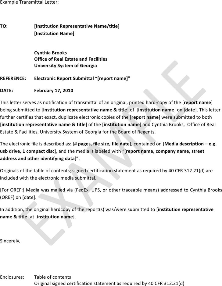 Letter of Transmittal Example - Template Free Download | Speedy ...