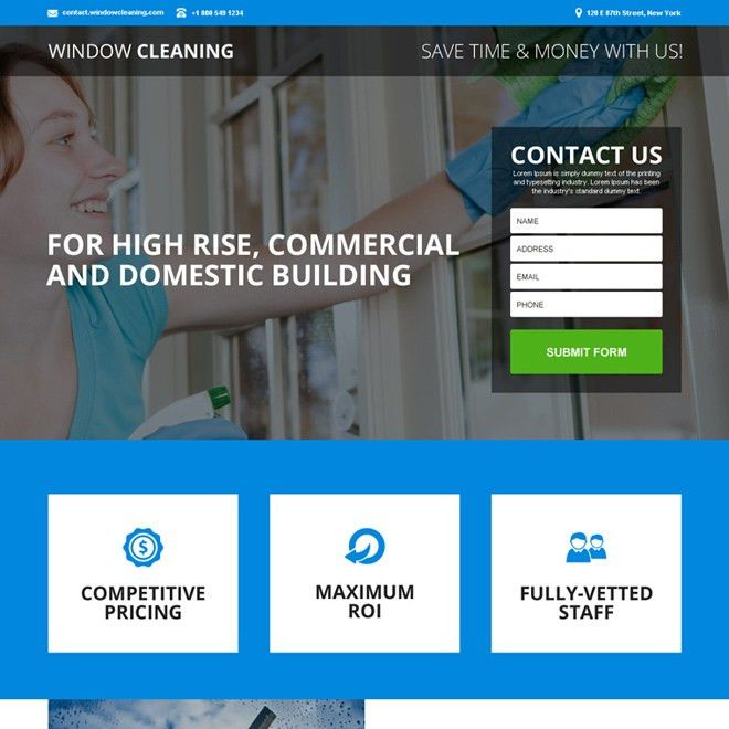 Professional and converting cleaning service landing page designs ...
