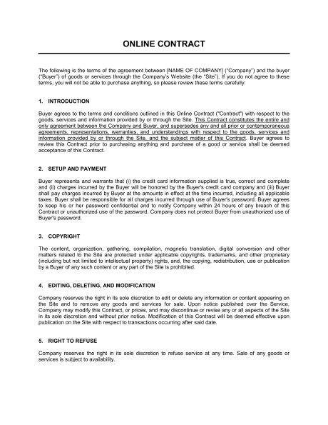 Online Sales Disclaimer - Template & Sample Form | Biztree.com