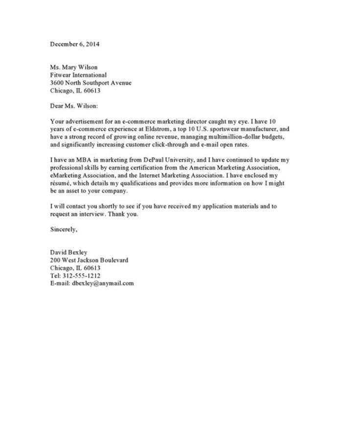 top 10 cover letters - Recruiter Cover Letter Example