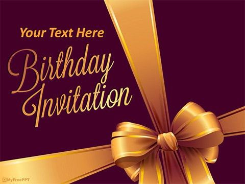 Free Birthday Party PowerPoint Templates - MyFreePPT.com