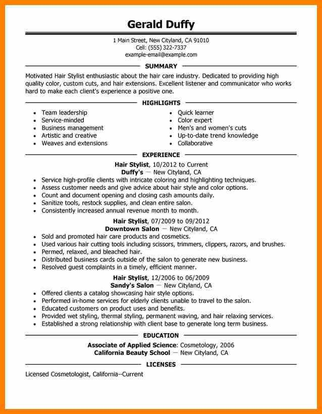 3+ hair stylist resume templates | character refence