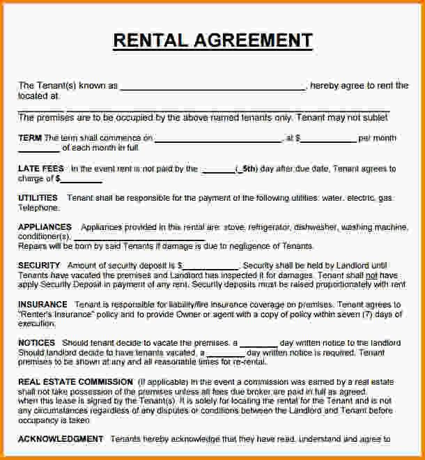 13+ house rental contract | Letter Template Word