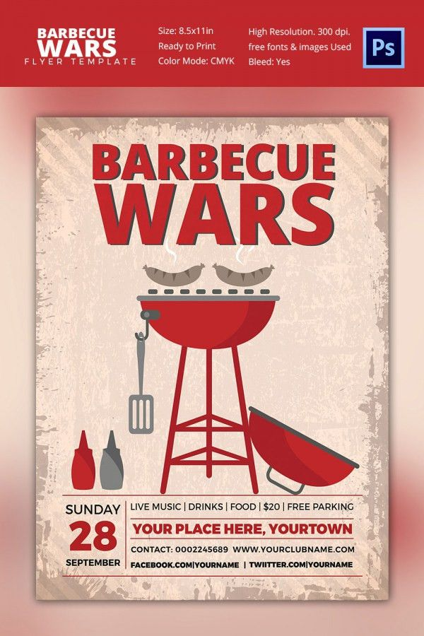 28+ BBQ Flyer Templates - Free Word, PDF, PSD, EPS, InDesign ...