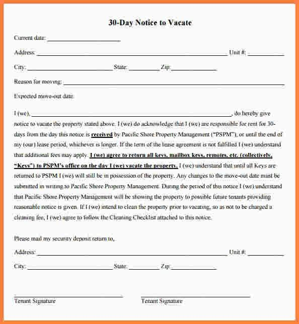 8+ 30 day notice letter from landlord to tenant | Second Notice Letter
