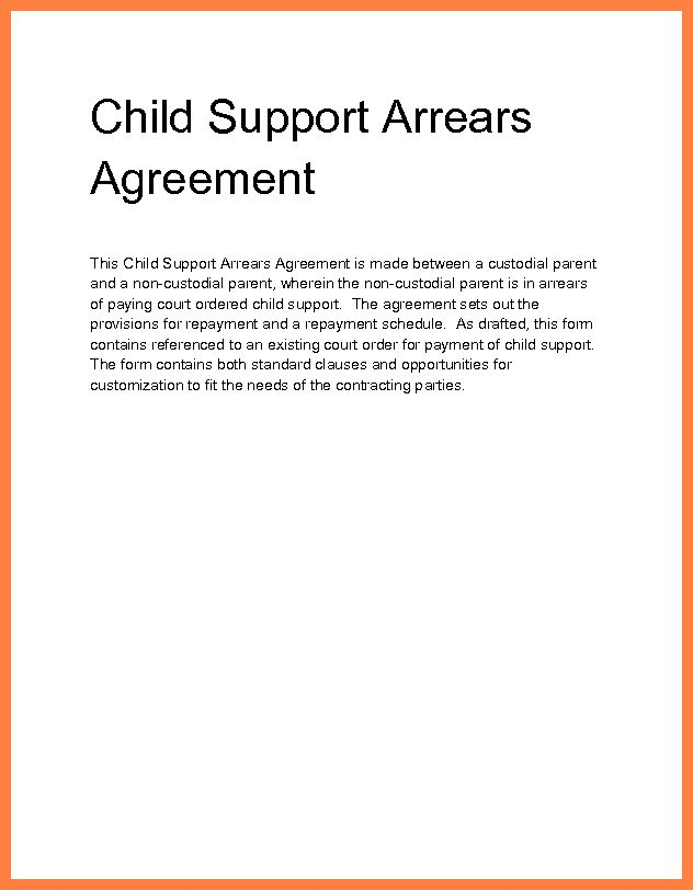 child support letter