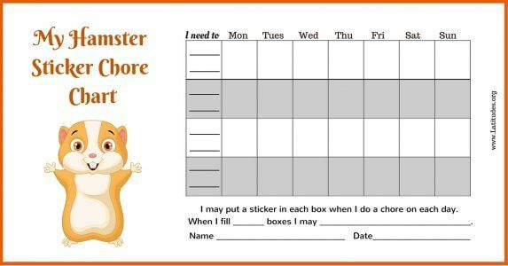 FREE Printable Sticker & Star Charts for Kids   ACN Latitudes