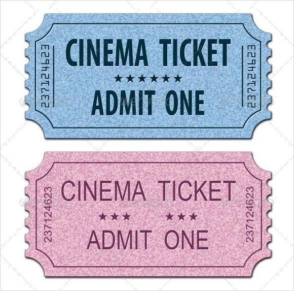 Movie Ticket Template - 9+ Premium and Free Download for Word