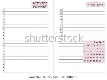 Weekly Do List Vector Template Blank Stock Vector 531186070 ...