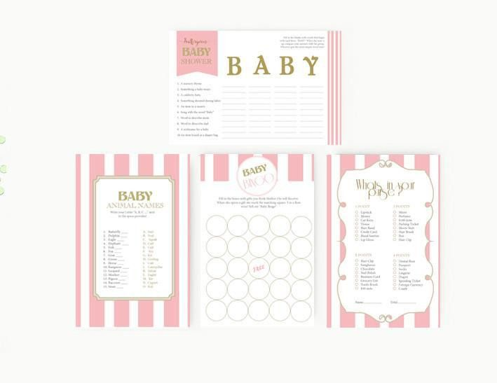 Baby shower Invitation Editable MS Word Template | Balloon Pink ...