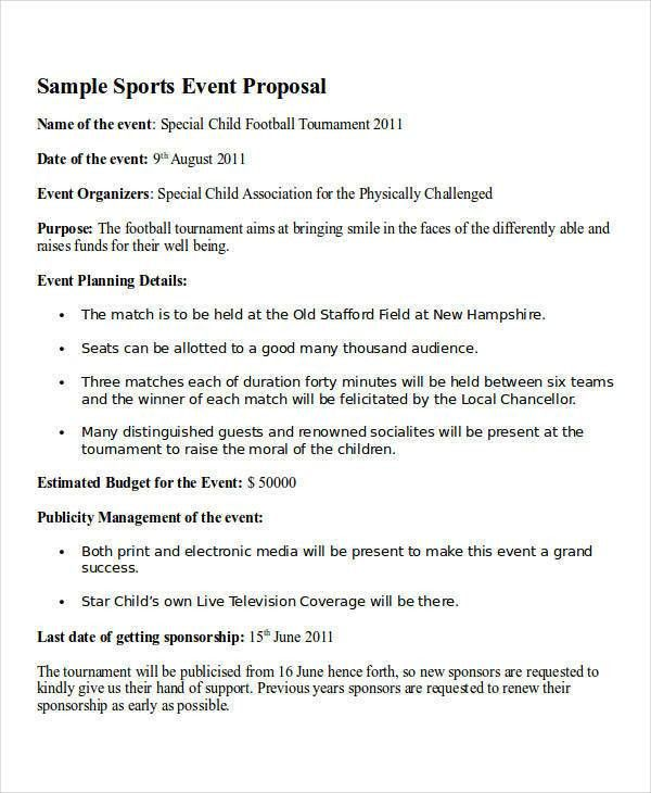 14+ Event Proposal Letters