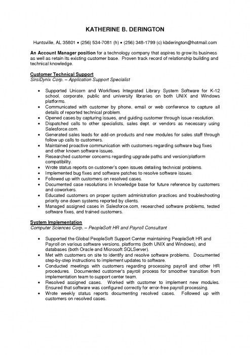 The Most Awesome Technical Support Manager Resume | Resume Format Web