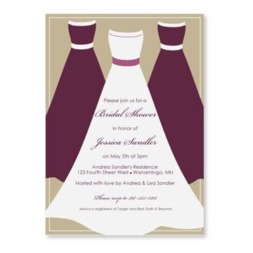 plum colored bridal shower invitations | wedding shower templates ...
