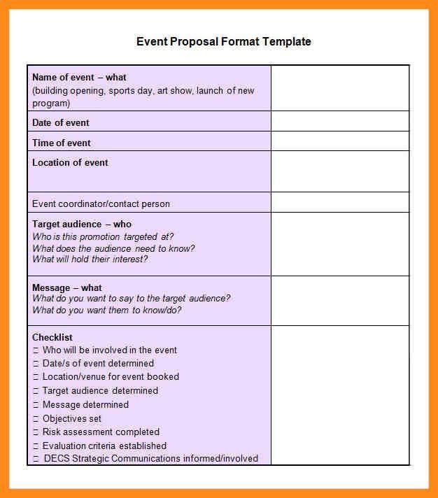 Program proposal template