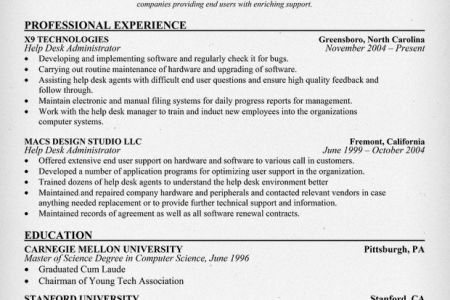 IT Help Desk Analyst Resume Sample Resume - Reentrycorps