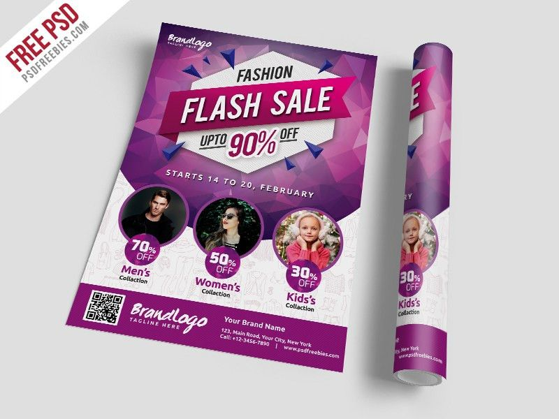 Fashion Sale Flyer Template Free PSD | PSDFreebies.com