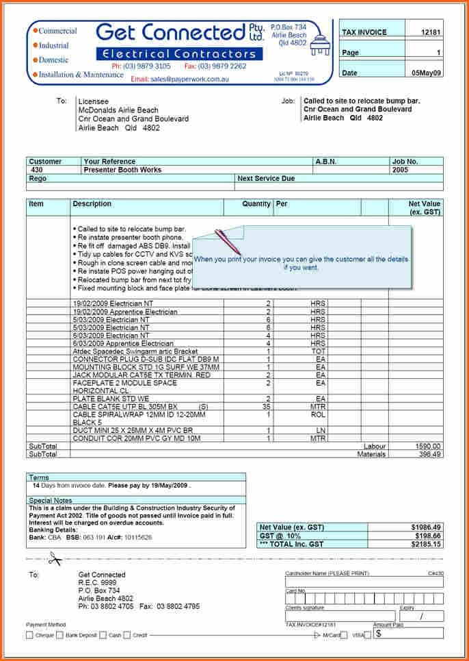 8+ plumbing invoice template - Budget Template Letter