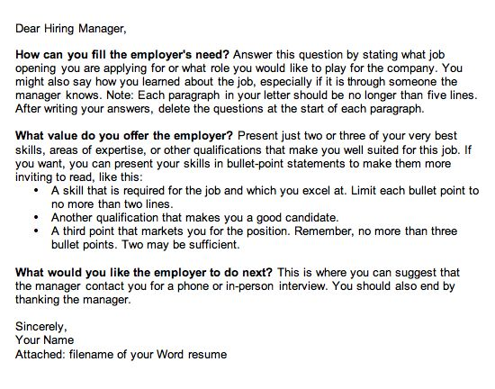 The 3-Point Cover Letter Template
