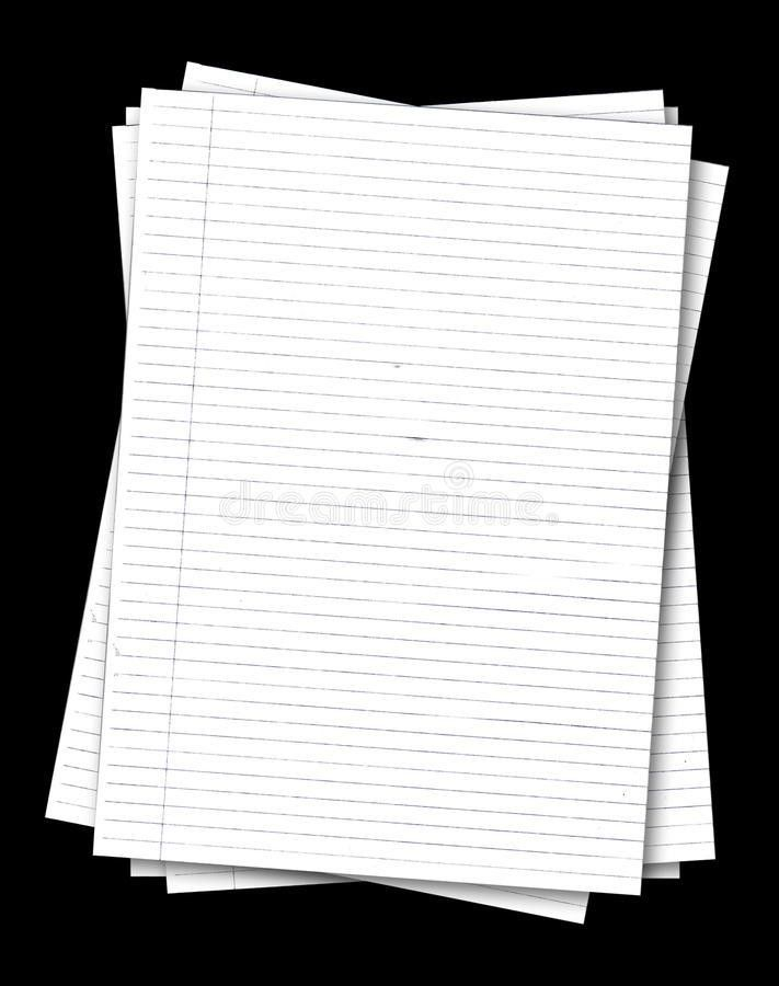 Stack Of Old Lined Papers Stock Photography - Image: 10550002