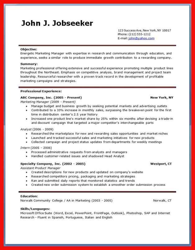Top 10 Resume Template 2014. resume examples best 10 images ...