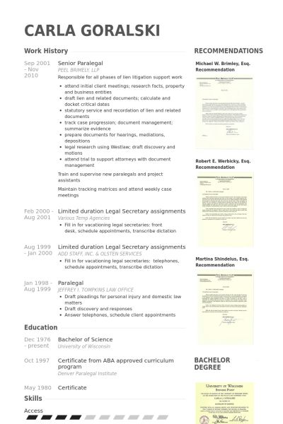 Unusual Ideas Paralegal Resume Sample 5 Example Of Paralegal ...